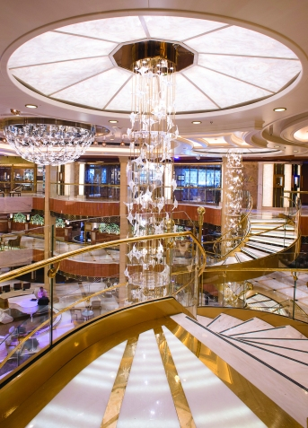 Atrium in the Royal Princess