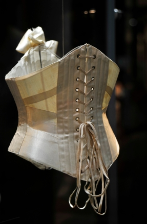 Back view of a ribbon corset, 1904, The Bowes Museum